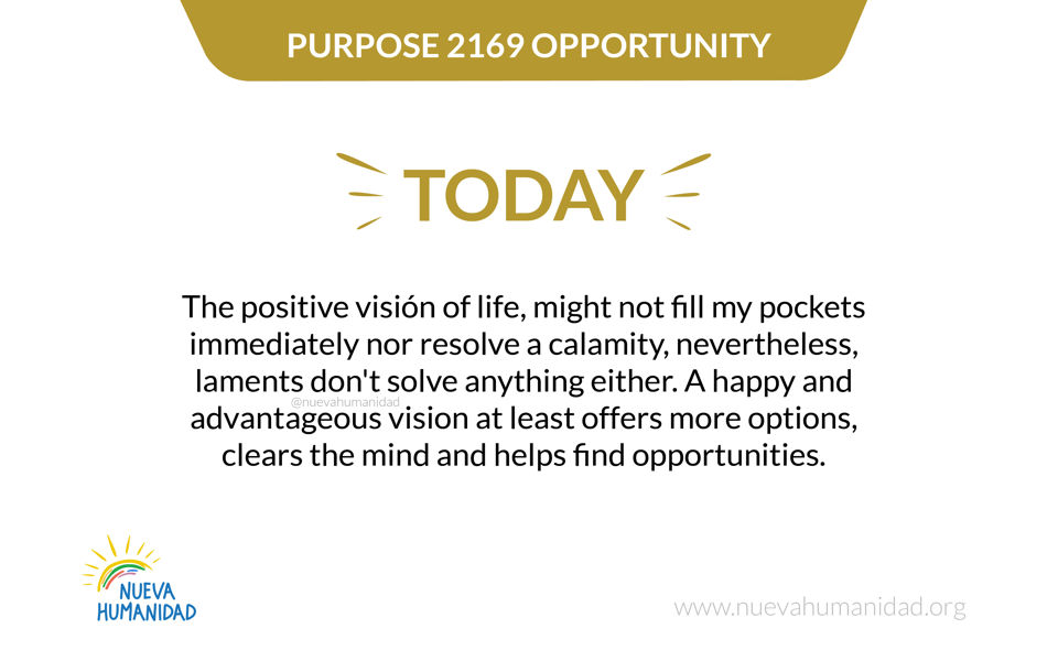 Purpose 2169 Opportunity
