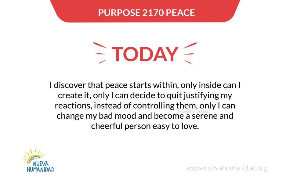 Purpose 2170 Peace