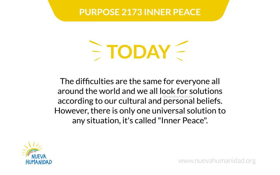 Purpose 2173 Inner peace