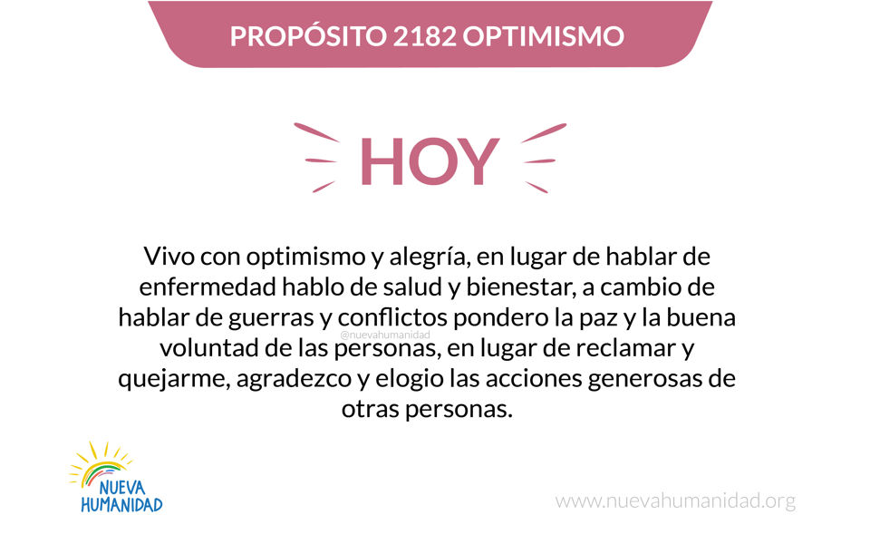 Propósito 2182 Optimismo