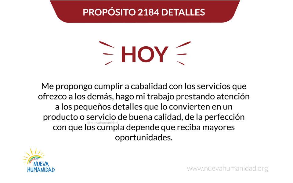 Propósito 2184 Detalles