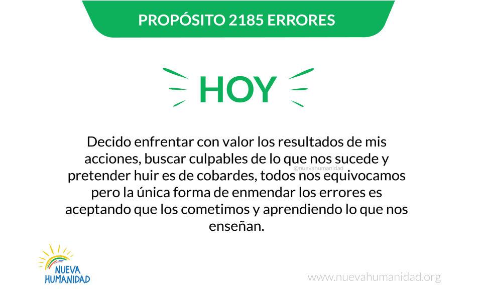 Propósito 2185 Errores