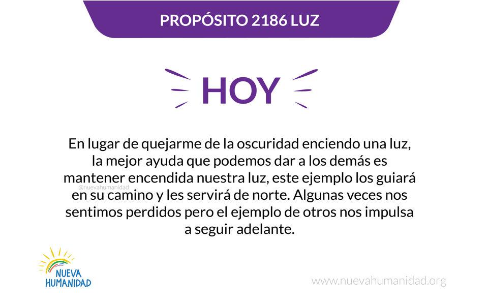 Propósito 2186 Luz