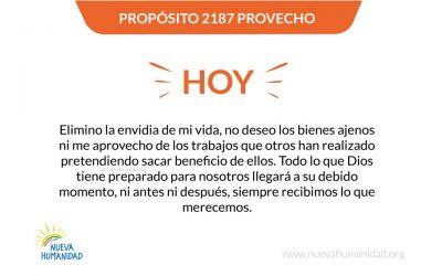 Propósito 2187 Provecho