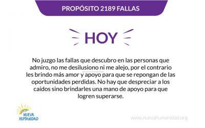 Propósito 2189 Fallas