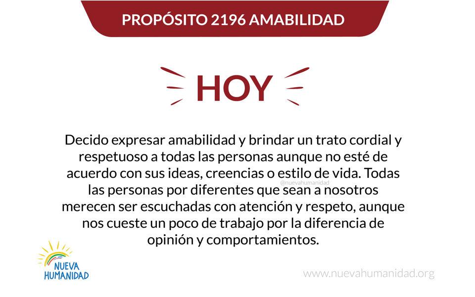 Propósito 2196 Amabilidad