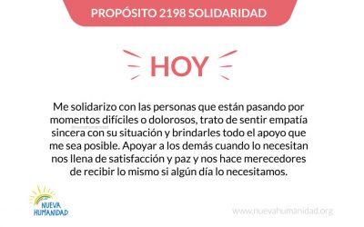 Propósito 2198 Solidaridad