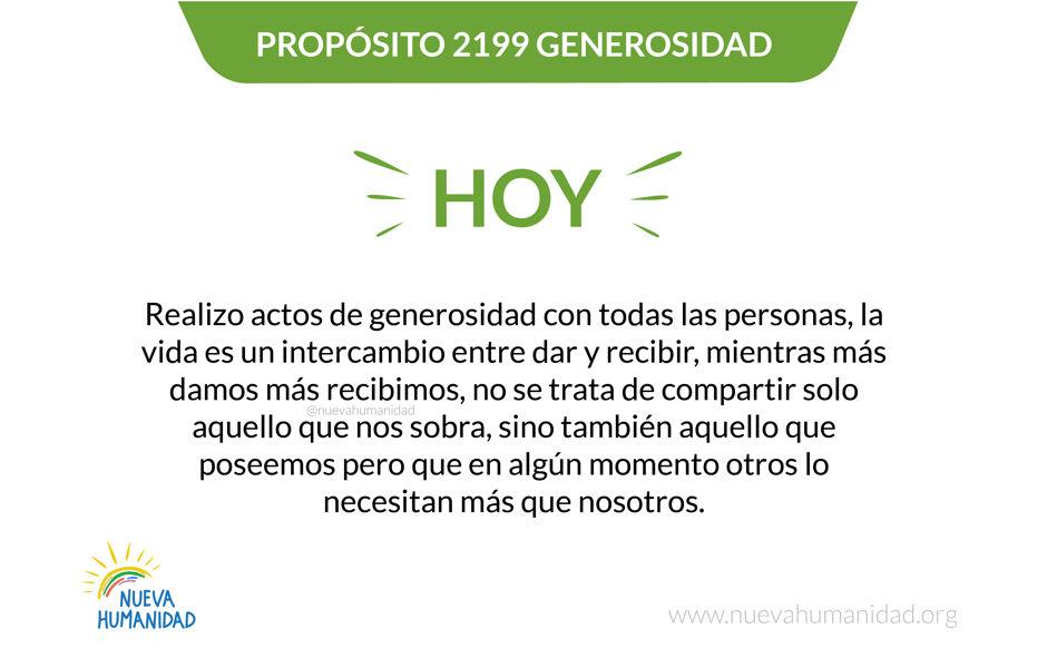 Propósito 2199 Generosidad