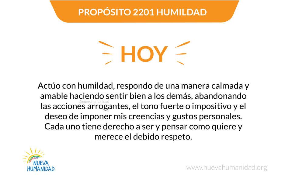 Propósito 2201 Humildad