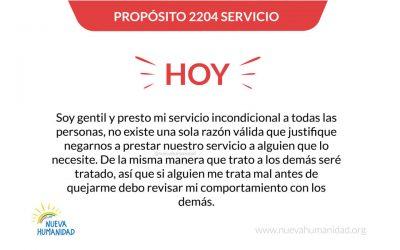 Propósito 2204 Servicio