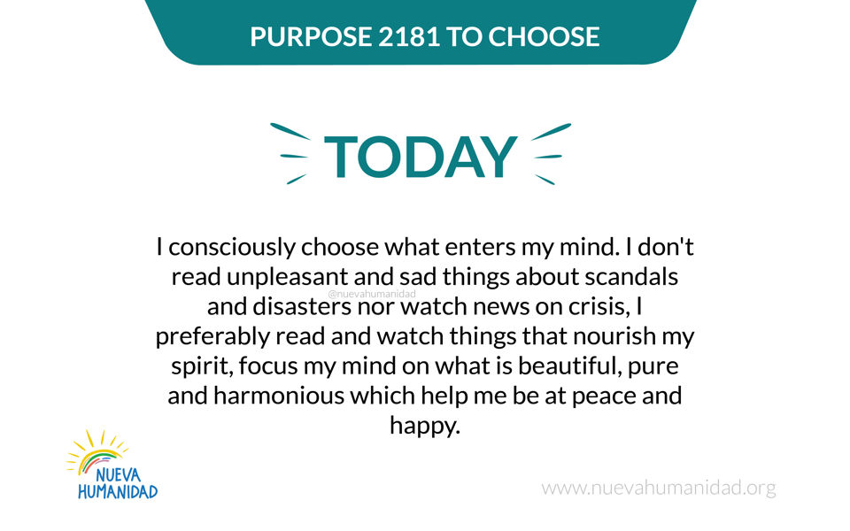 Purpose 2181 To choose