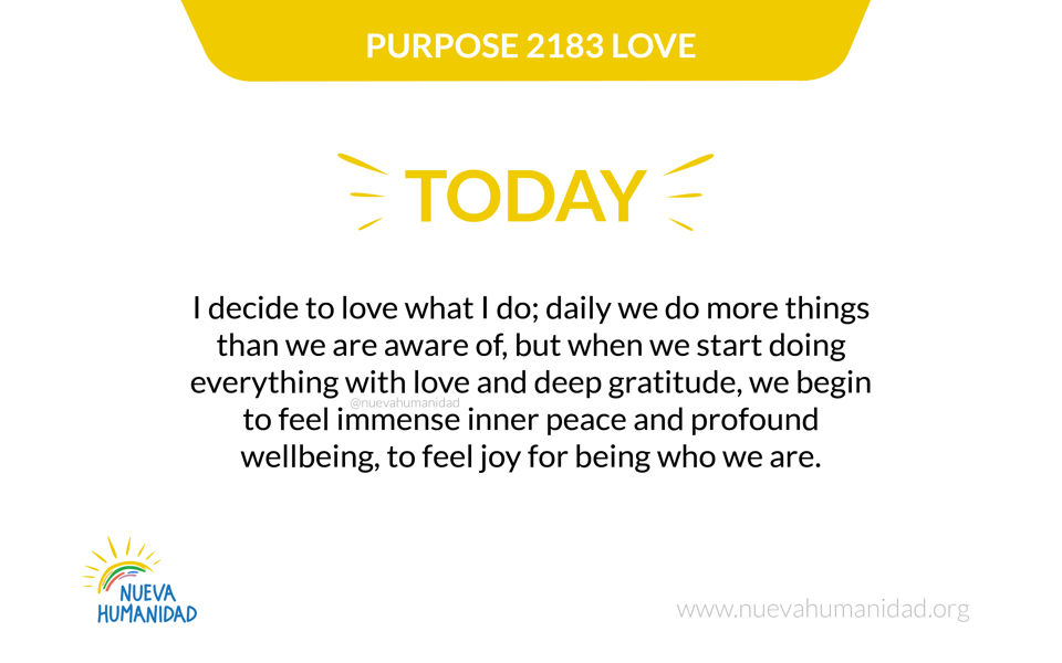 Purpose 2183 Love
