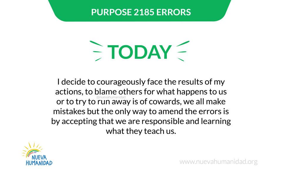 Purpose 2185 Errors