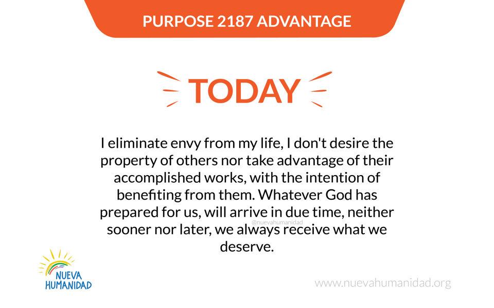 Purpose 2187 Advantage