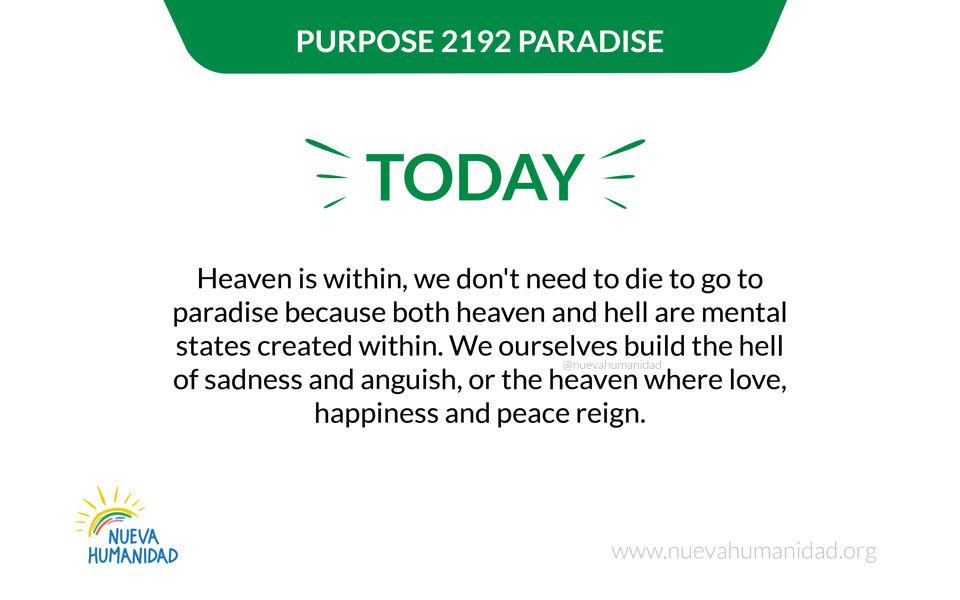 Purpose 2192 Paradise