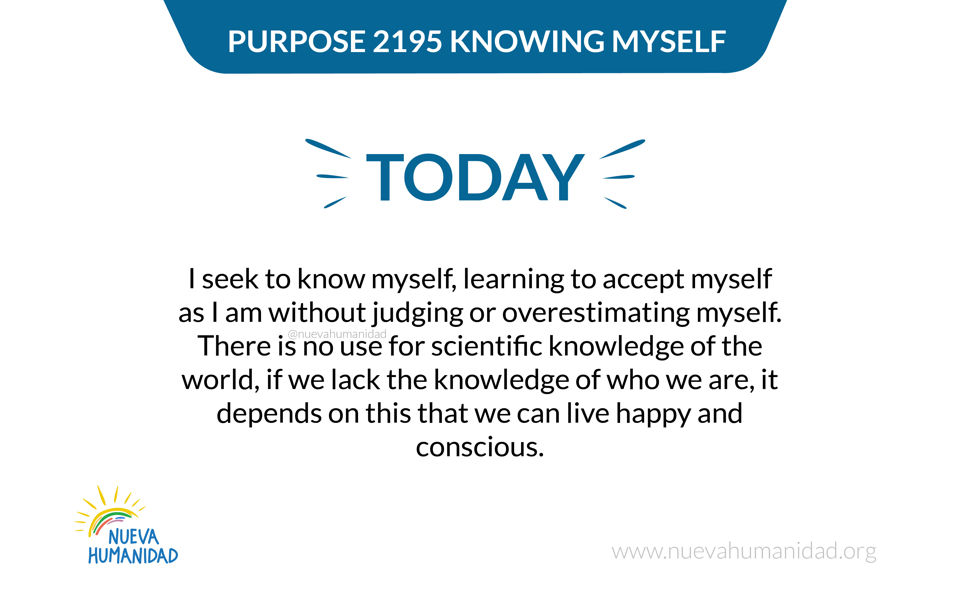 Purpose 2195 Knowing myself