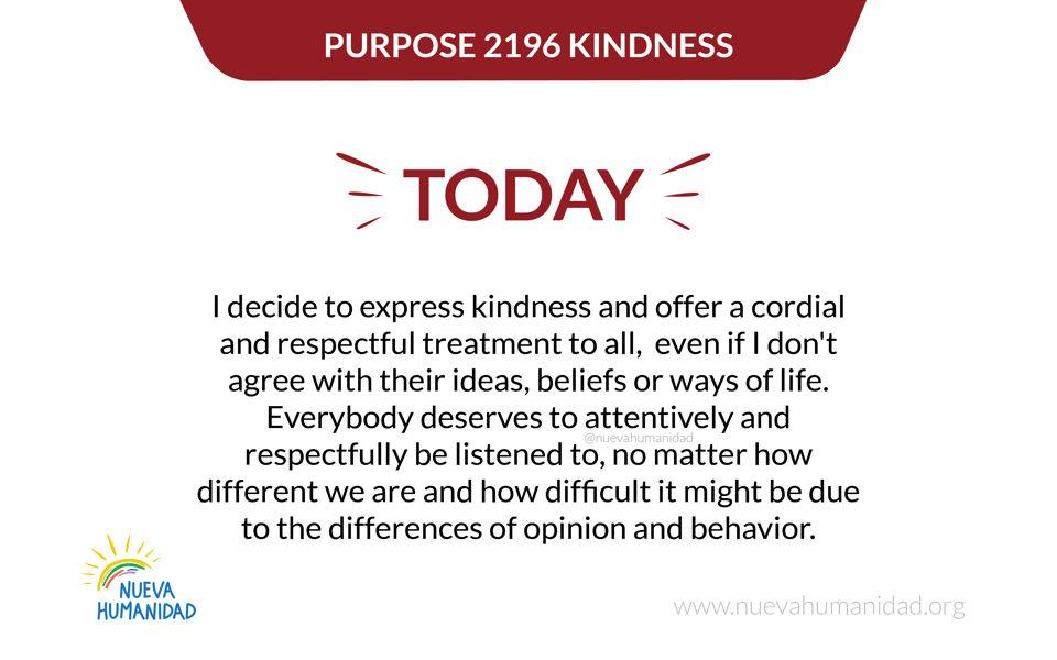 Purpose 2196 Kindness