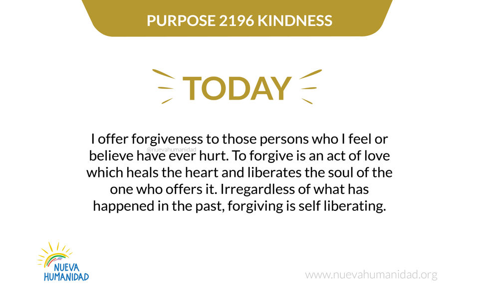 Purpose 2197 Forgiveness