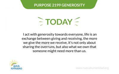 Purpose 2199 Generosity