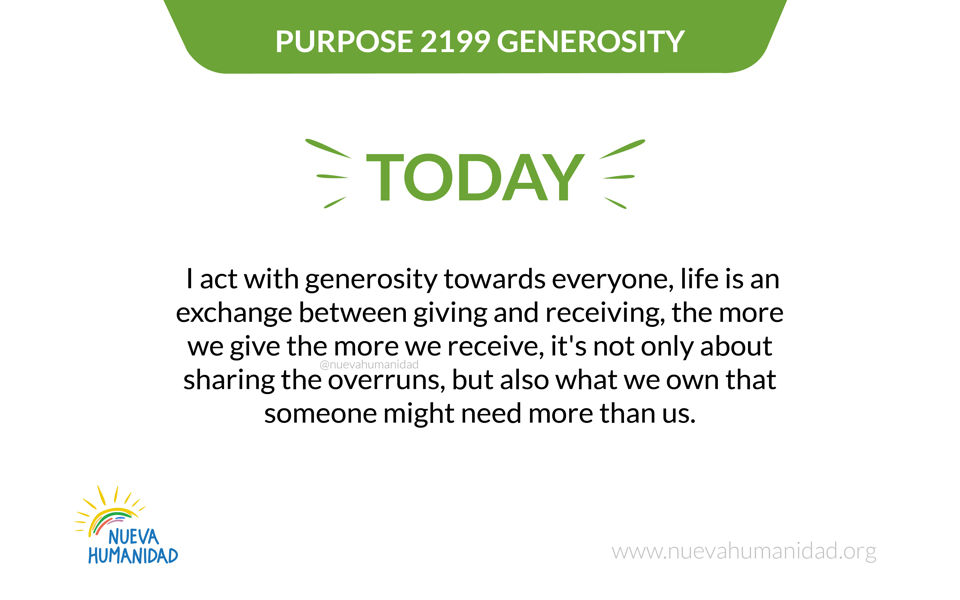 Purpose 2199 Generosity