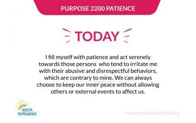 Purpose 2200 Patience