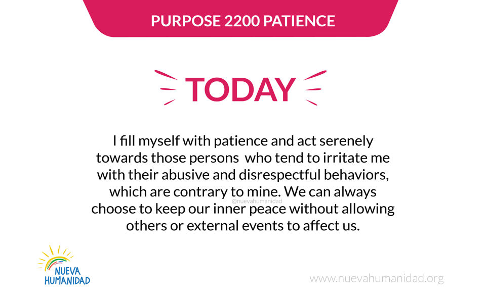 Purpose 2200 Patience