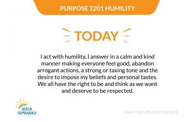Purpose 2201 Humility