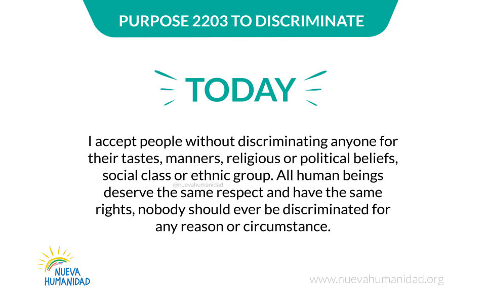 Purpose 2203 To discriminate