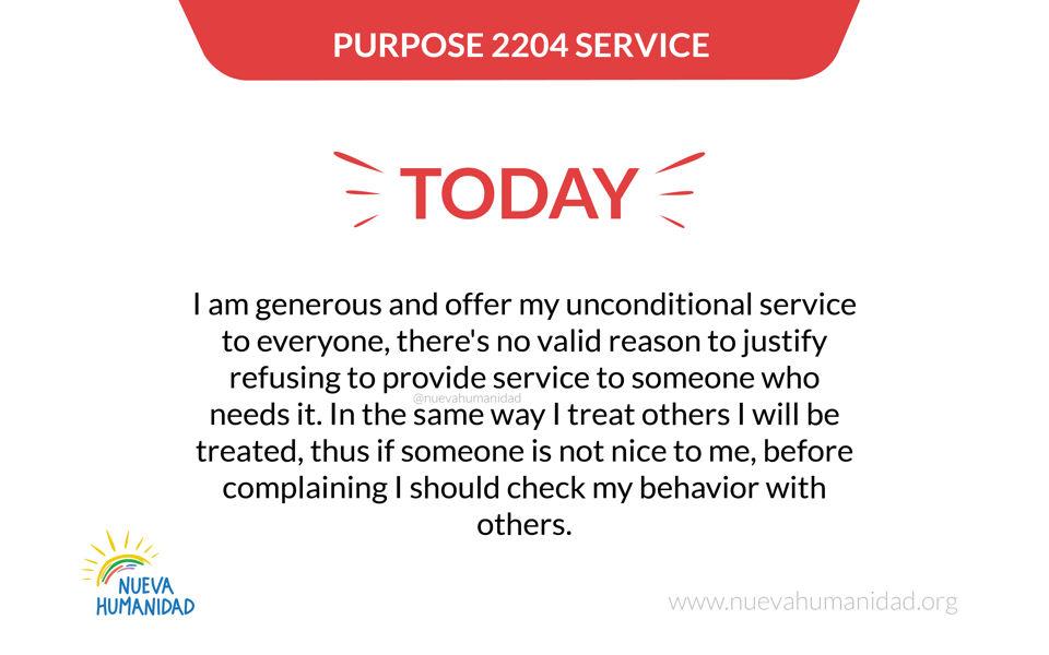 Purpose 2204 Service