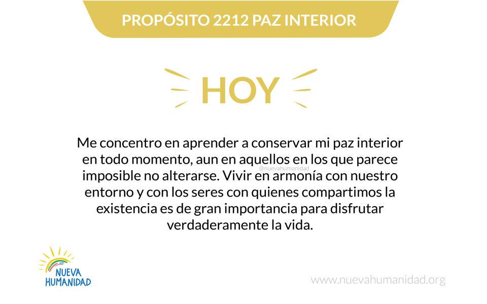 Propósito 2212 Paz interior