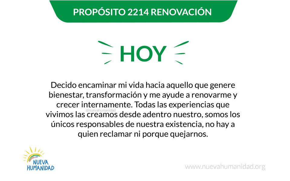 Propósito 2214 Renovación