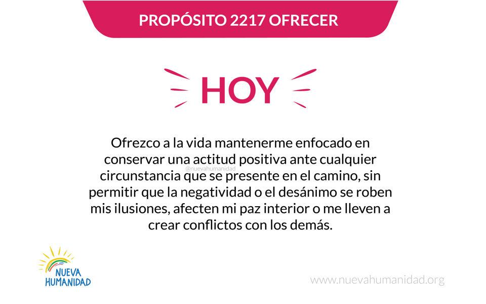 Propósito 2217 Ofrecer