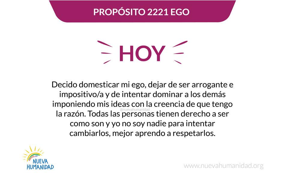Propósito 2221 Ego