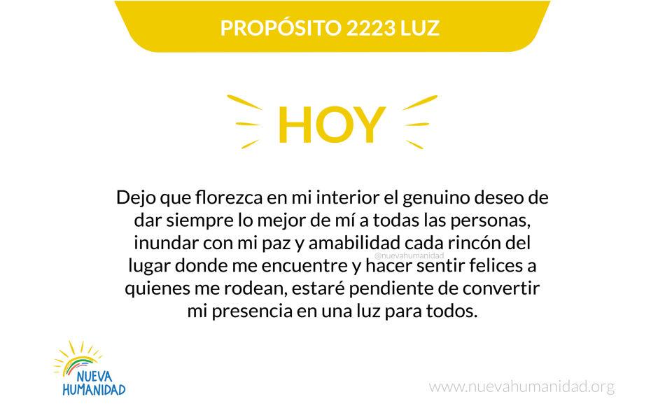 Propósito 2223 Luz