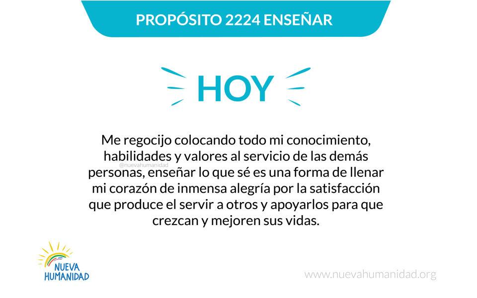 Propósito 2224 Enseñar