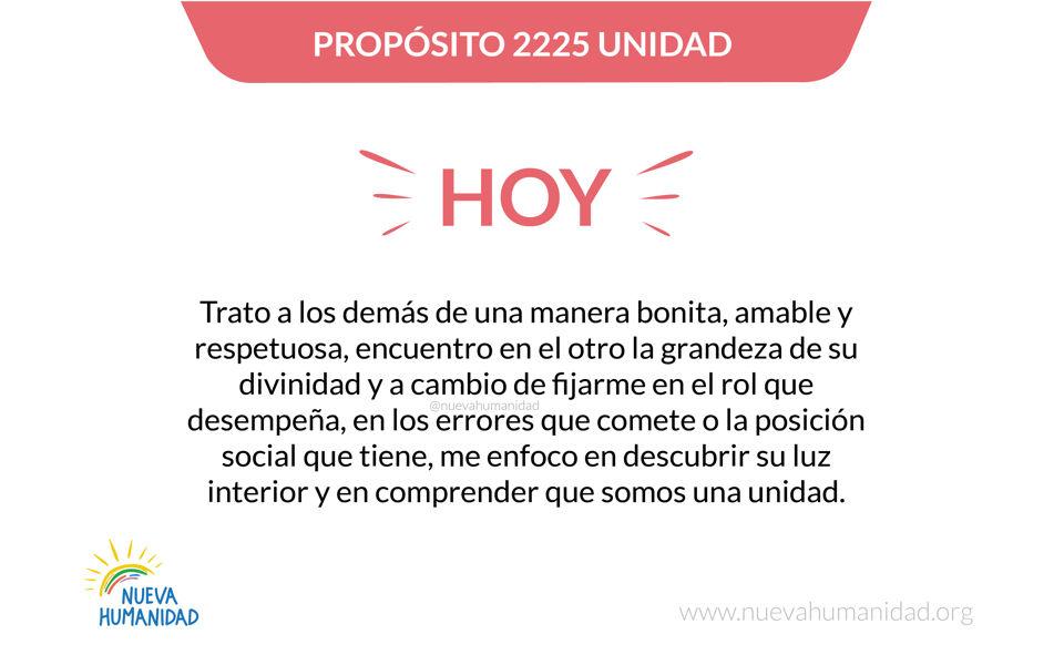 Propósito 2225 Unidad