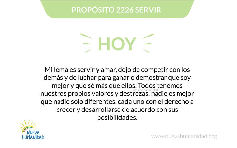 Propósito 2226 Servir