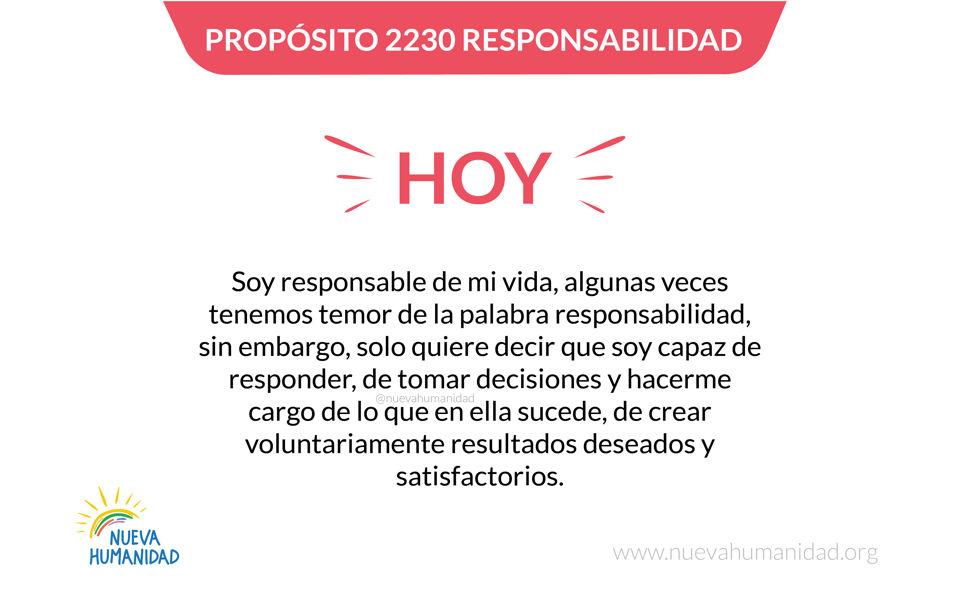 Propósito 2230 Responsabilidad
