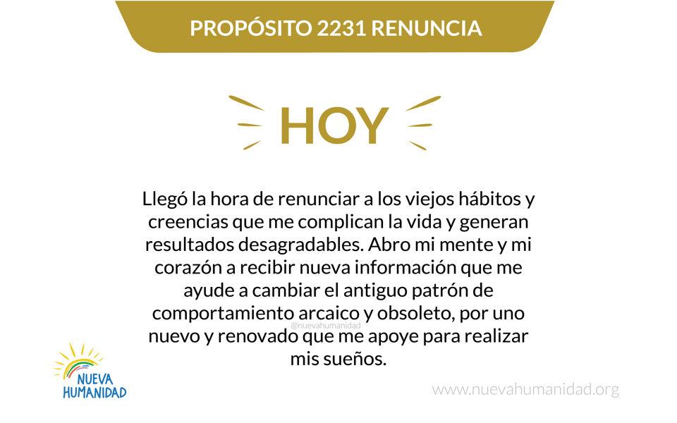 Propósito 2231 Renuncia
