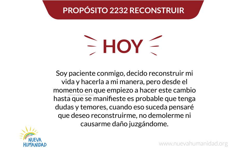Propósito 2232 Reconstruir