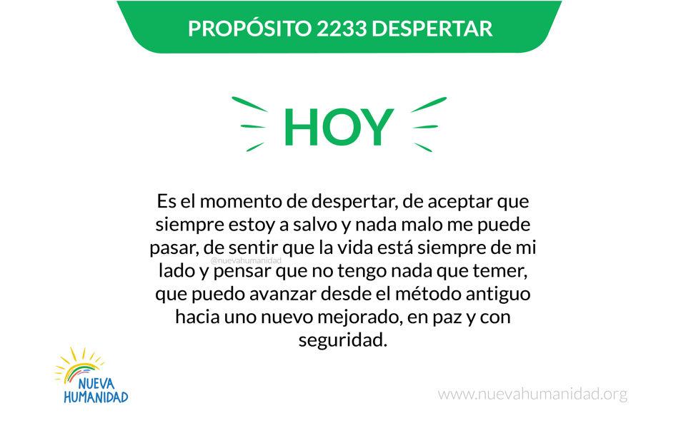 Propósito 2233 Despertar