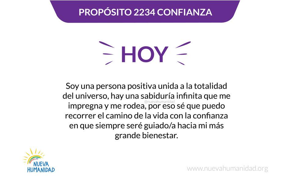 Propósito 2234 Confianza