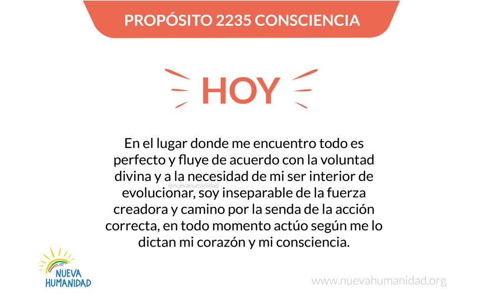 Propósito 2235 Consciencia