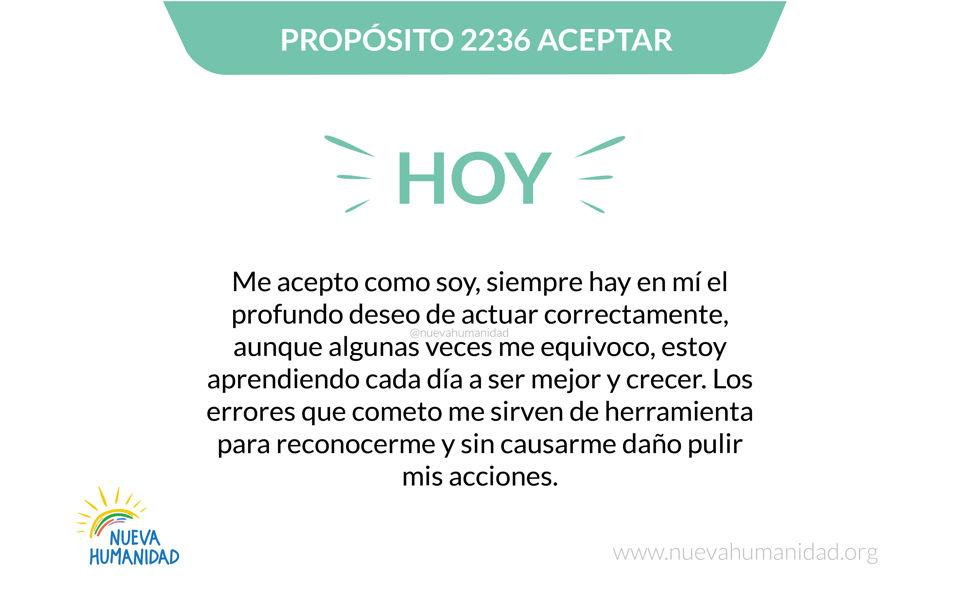 Propósito 2236 Aceptar