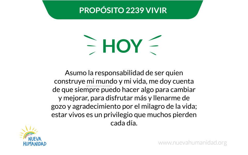 Propósito 2239 Vivir