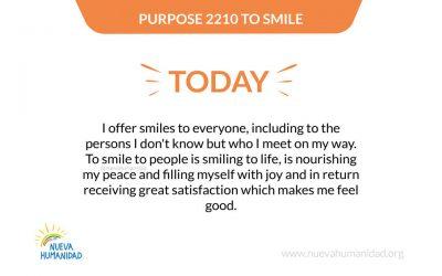 Purpose 2210 To smile