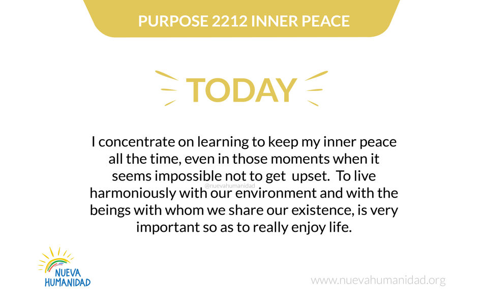 Purpose 2212 Inner peace