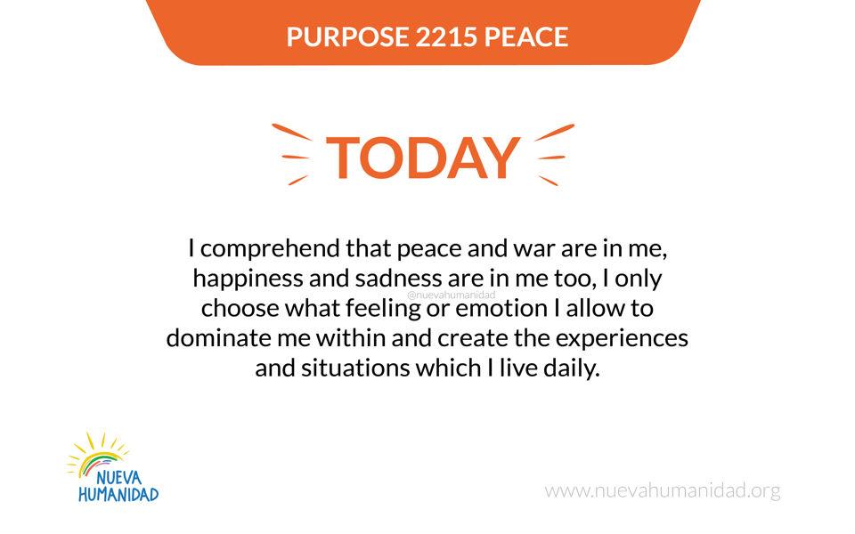 Purpose 2215 Peace