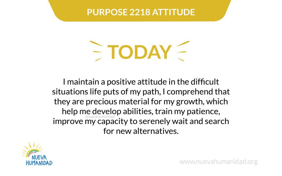 Purpose 2218 Attitude
