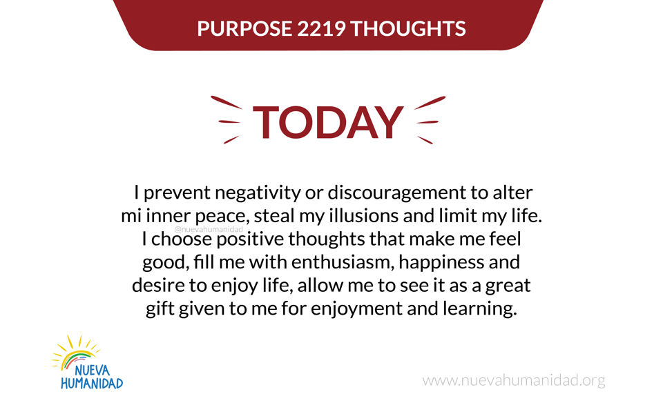 Purpose 2219 Thoughts